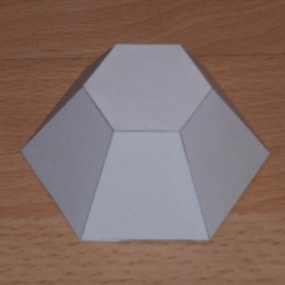 Усеченная шестиугольная пирамида