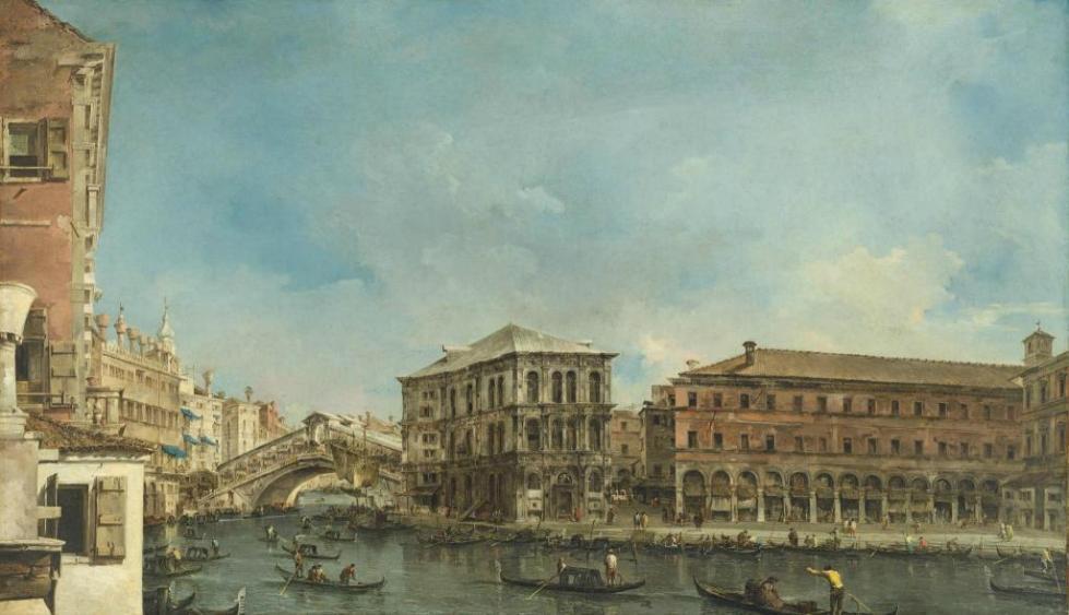 Франческо Гварди. Мост Риалто