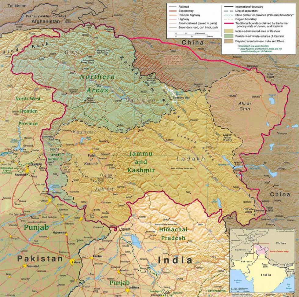 Карта территорий, попавших в зону конфликта