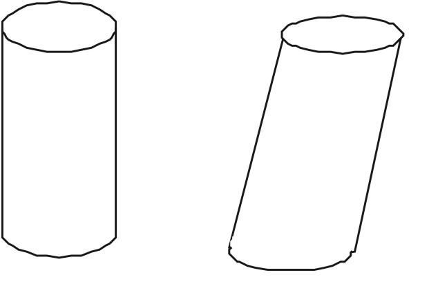 Прямой и наклонный цилиндры