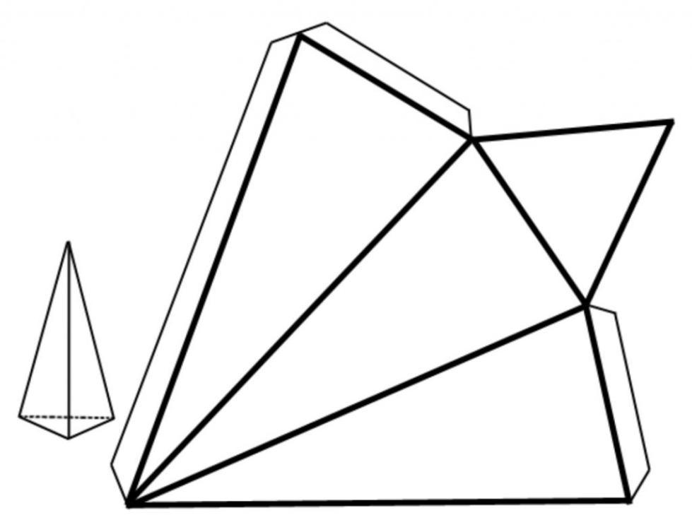 Развертка правильной треугольной пирамиды