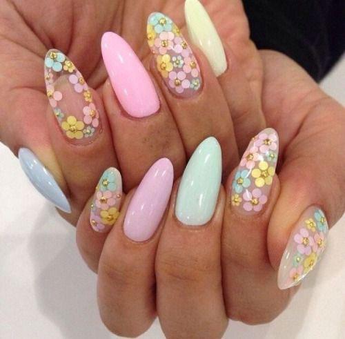 ногти с цветами