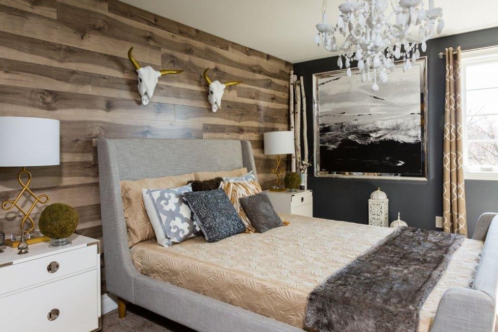 ламинат на стене в спальне отзывы