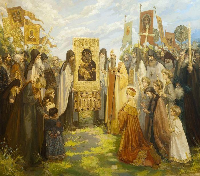 Возвращение митрополита Киприана в Москву