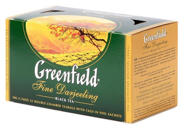 Чай Гринфилд в пакетиках