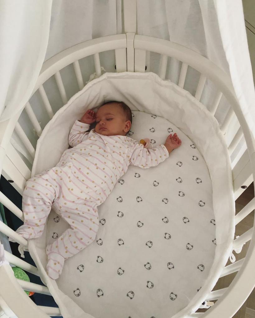 Уютная круглая детская кровать