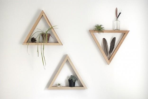 декоративные полки из дерева