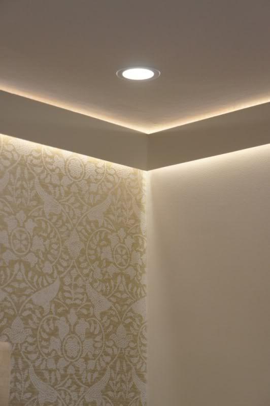 установка светодиодных лент под потолок