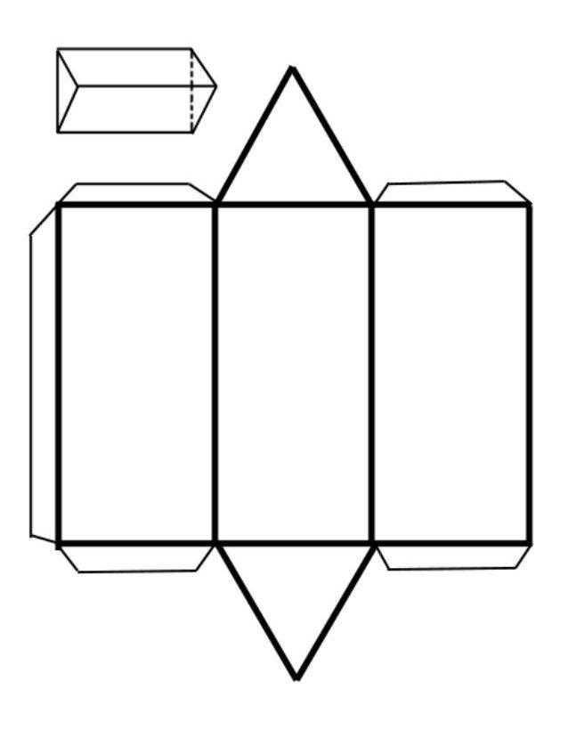 Поверхность треугольной призмы