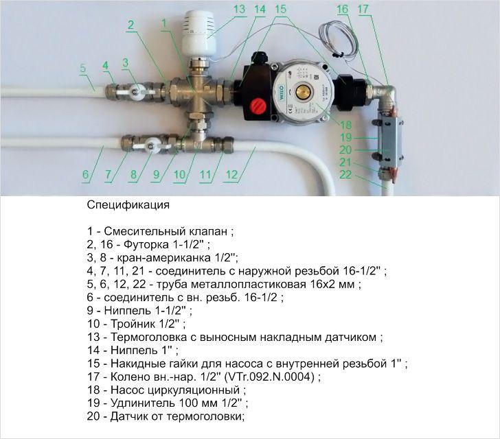 регулировка теплого водяного пола термоголовка