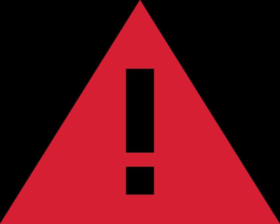 Восклицательный знак в треугольнике
