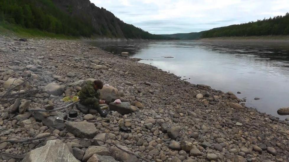 река Олекма осенью