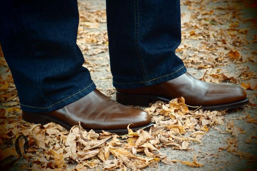 Коричневые туфли
