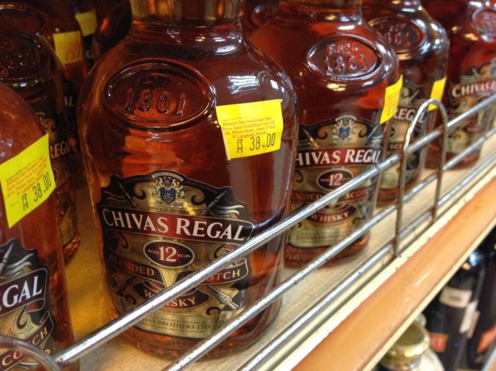 В магазинах виски
