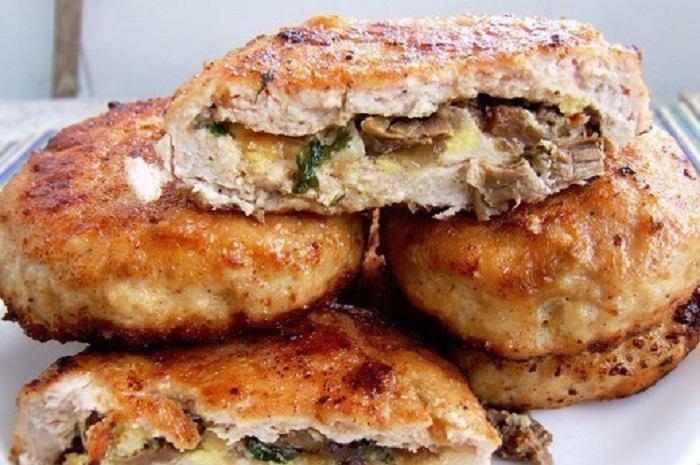 рецепт зраз с грибами и сыром