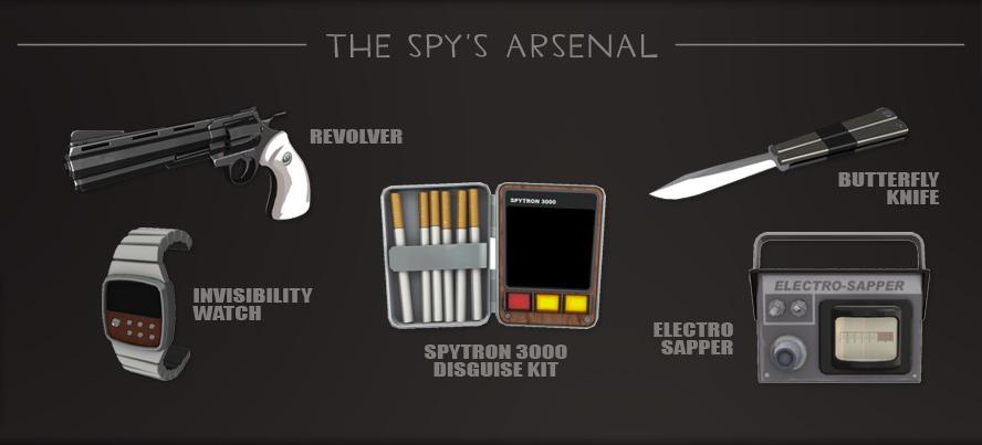 Арсенал шпиона в ТФ2