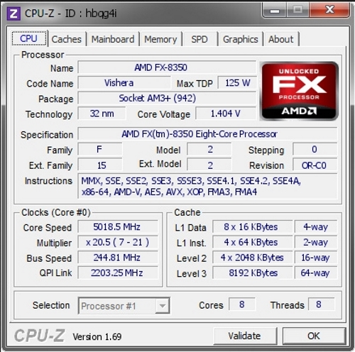 Разгон процессора AMD FX - 8350