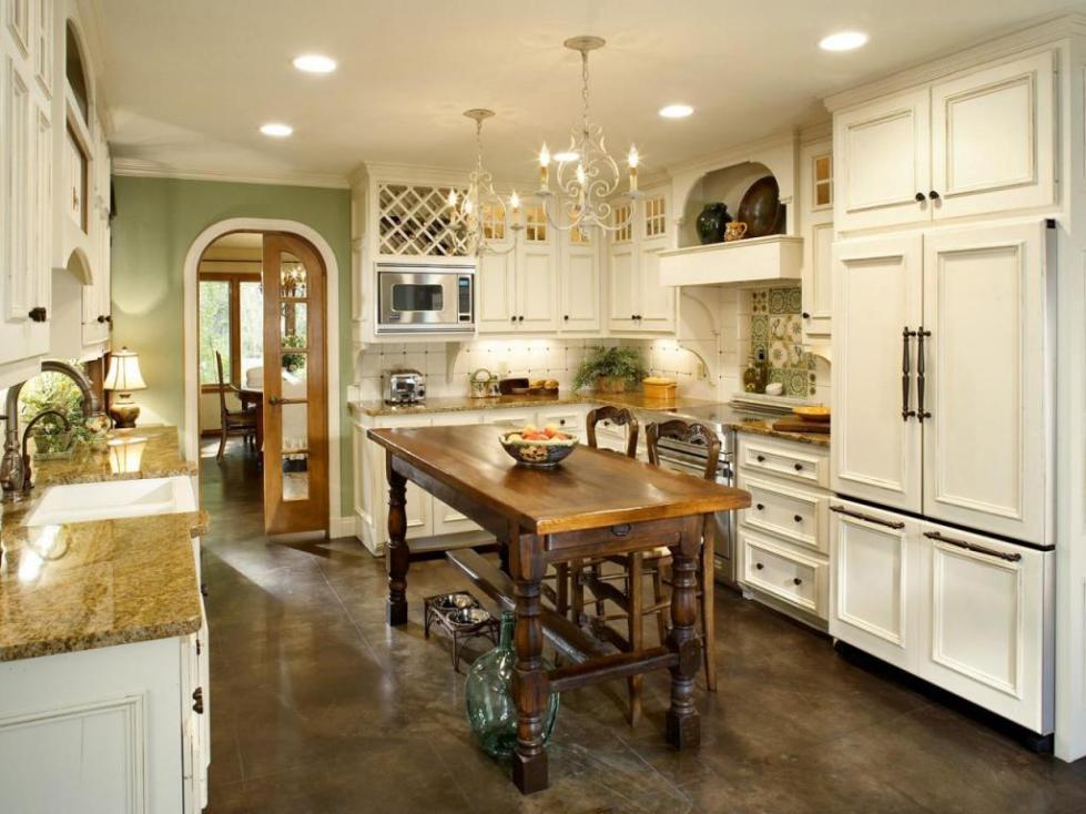 кухня во французском стиле фото интерьер