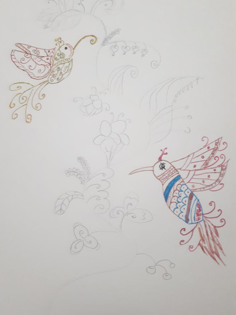 Колибри в цвете