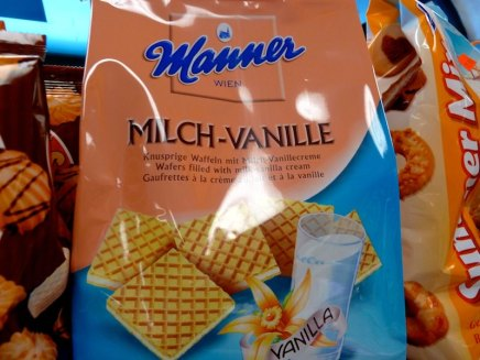 Manner-Waffeln im Supermarkt in Montréal