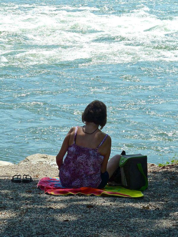 Am Strand bei den Rapides de Lachine, Montréal
