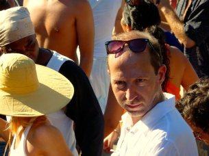 Mann mit Sonnenbrille bei den Tam Tams in Montreal