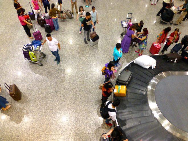 Flughafen Guangzhou, China – Gepäckförderband