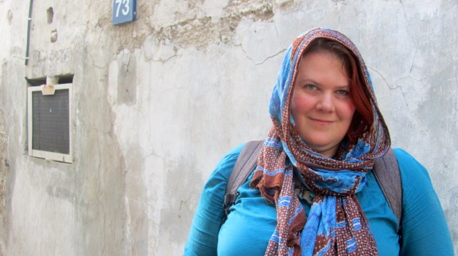 Stefka mit Kopftuch in Dubai