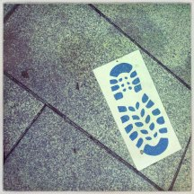 Fußabdruck Santiago de Compostela