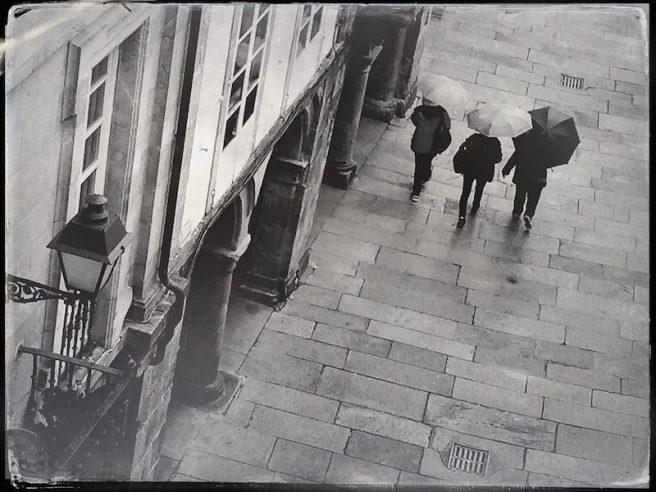Regenschirme Rua Nova Santiago de Compostela