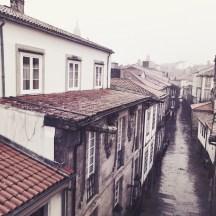 Rua Nova Regen rechts Santiago de Compostela
