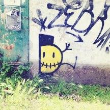 Smiley Street Art Santiago de Compostela