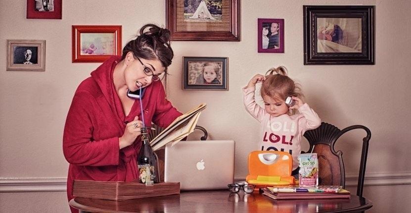 работа дома и дети
