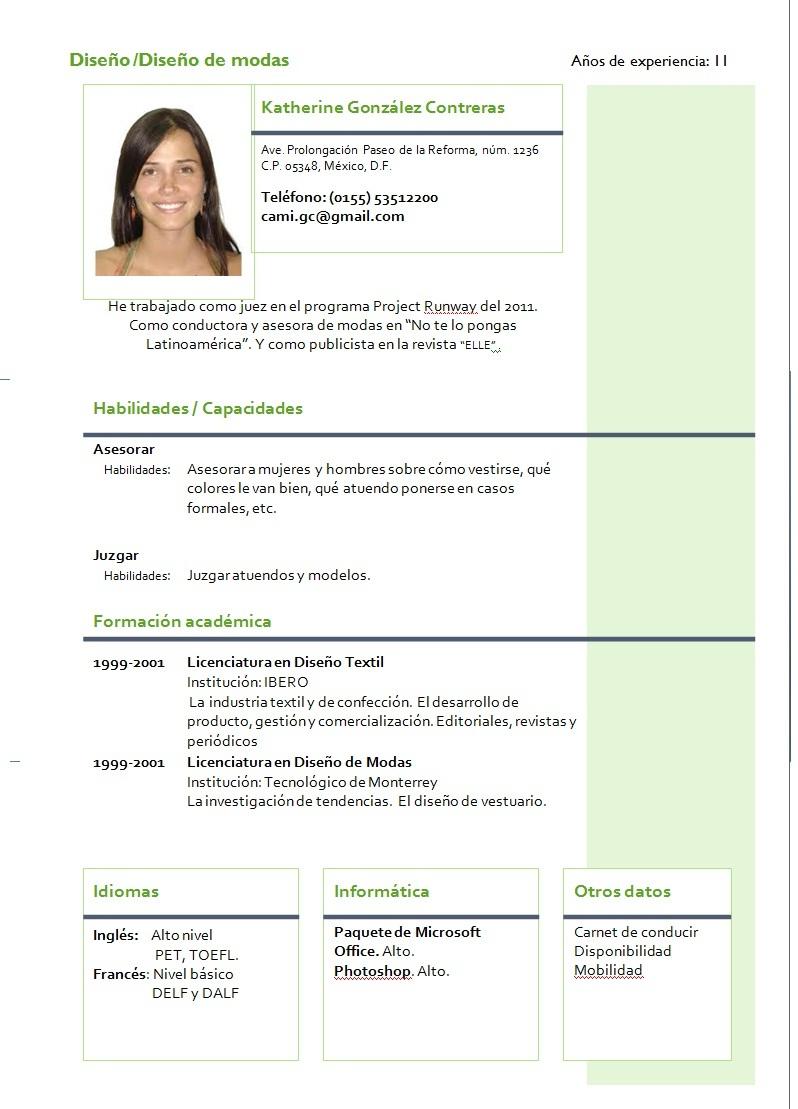 Ejemplo De Curriculum Vitae Funcional Examples Of Cover Letters