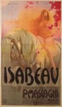 Isabeau, cartel de Giuseppe Palanti para la ópera de Pietro Mascagni dedicada a Lady Godiva