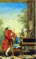 Mozart por Louis (Carrogis) de Carmontelle