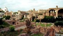 Blick vom Palatin auf das Forum Romanum