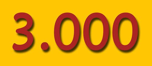 3.000 Artikel sind bisher auf Text & Blog erschienen