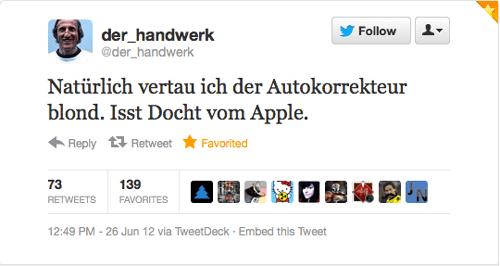 Tweet der Woche von @der_handwerk