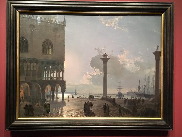 Friedrich Nerly: Piazzetta in Venedig bei Mondschein, 1842