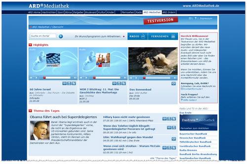 ARD-Mediathek - Testversion