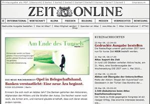 ZEITonline - auch die Netzversion kopiert das Original