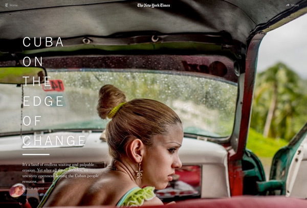 NY Times: Cuba on the Edge of Change