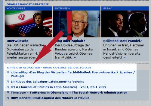 Deutsche Welle Amerika mit Empfehlung fürs ciberaBlog