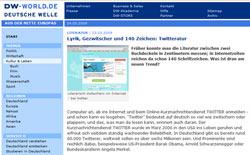 Deutsche Welle über Twitter und Twitkrit