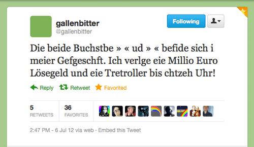 Tweet der Woche von @Gallenbitter