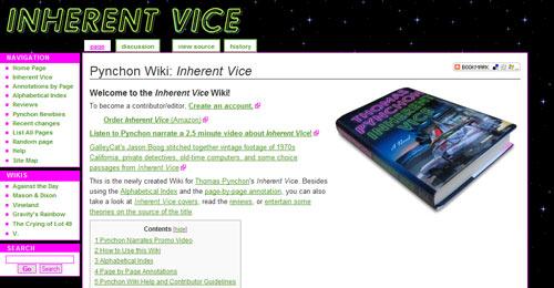 Pynchon Wiki: Inherent Vice