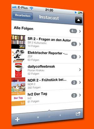 Instacast - iPhone App zum Podcast-Abonnieren