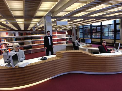 Informationszentrum in der Stabi Hamburg