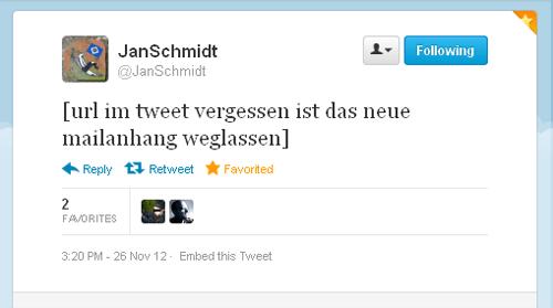 Tweet der Woche von @JanSchmidt